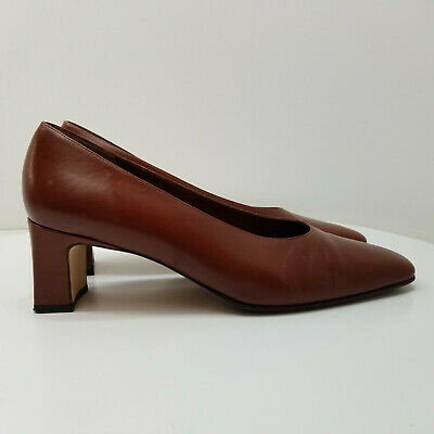 1e04845ff06b AMALFI BY NORDSTROM Women s Size 10.5B Brown Leather Square Toe Dress Shoe  H042