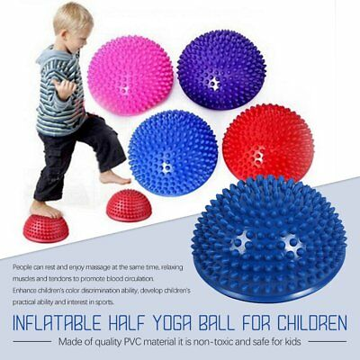 Fitness & Jogging Inflatable Half Yoga Ball Exercise Fitness Balance Board Point Massage Board FT