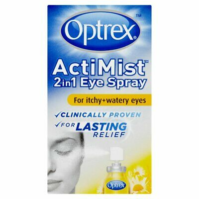 Optrex Actimist 2In1 Eye Spray For Itchy & Watery Eyes 10Ml.brand New Retail Box