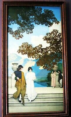 Scarce Vintage Maxfield Parrish Print  Garden of Opportunity  Curtis Pub. c.1915