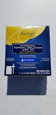 DAYLOGIC MENS 5% MINOXIDIL TOPICAL HAIR REGROWTH TREATMENT 3 month Expired 11/18