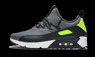 NIKE AIR MAX 90 EZ Dark Grey Volt White Men Running Shoes Sneakers AO1745 003