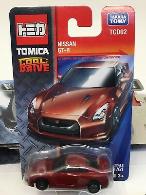 Tomica Cool Drive Nissan Gtr 1/64 Scale Model Car Tcd02 Red Tomy