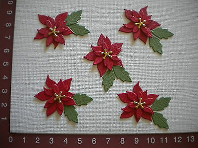 Die Cuts - Poinsettia - Flower - Christmas - Largest Flower 3.5 cms. approx.