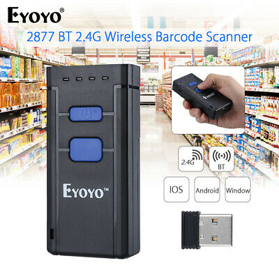 Wireless Bluetooth Laser Barcode Scanner Code Reader for Apple Android IOS Win