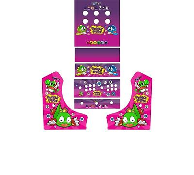 #2 Bubble Bobble DIY Bar top Arcade Side Art FULL WRAP SET JAMMA, 60 in 1, MAME