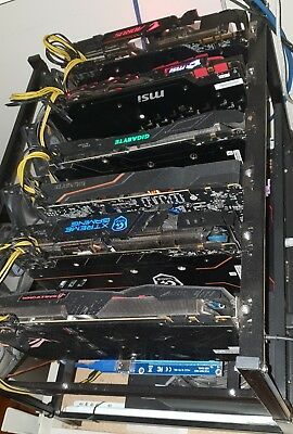 Killer Cryptocurrency Mining Rig - 6x GTX 1080s All fully setup & ready to mine!