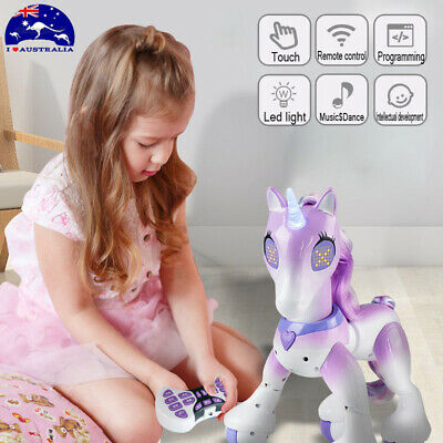 2018 Electronic Remote Control Sounds Moving Horse Unicorn Robot Kids Xmas Gifts