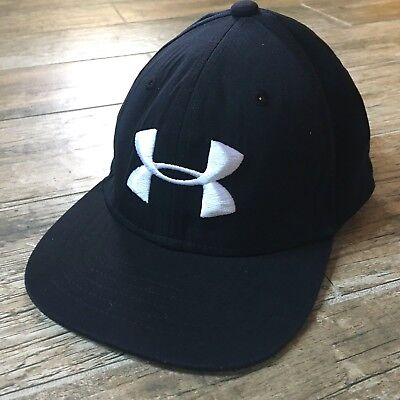 184f55e2c6f Under Armour Youth Boys Fitted Baseball Hat Black Cap Youth Stretch-Fit  Snapback