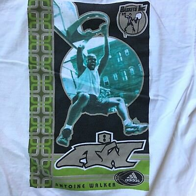 Vintage Adidas A8W Antoine Walker Boston Celtics Shirt Small NBA Basketball  90s 39f81627f