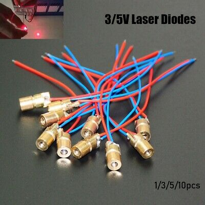10Pcs Laser Diode 650nm 6mm 3/5V 5Million Watt Adjustable Laser Dot Diode Module