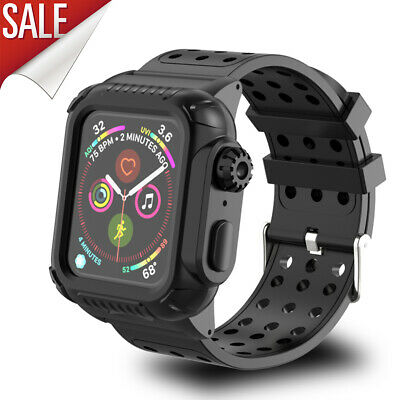 44MM Shockproof Strap Band with Protective Case fits Apple Watch iwatch Series 4
