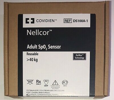 Covidien Nellcor DS100A-1 Adult SpO2 Sensor-Original w Packing-Same Day Shipping