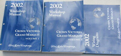 2002 ford crown victoria grand marquis wiring diagrams workshop manuals set  of 3