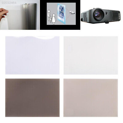 A6A0 Durable Projection Curtain Projector Screen Self Adhesive HD Transparant
