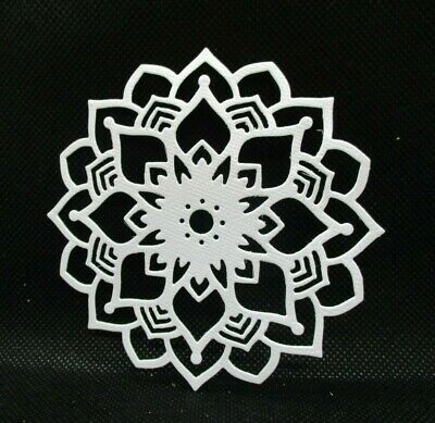 5 Star Mandala Die Cuts......white Or Black........cardmaking....scrapbooking
