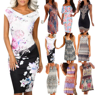 Fashion Women Halter Neck Boho Sleeveless Casual Mini Beachwear Dress Sundress