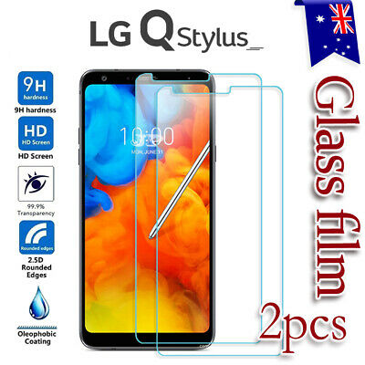 2x Scratch Resist Tempered Glass LCD Screen Protector Film Guard For LG Q Stylus