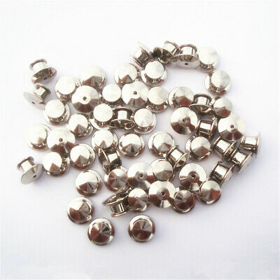 10/20X Locking Flathead Lapel Pin Back Clutch Clasp Fastener Silver Accessories