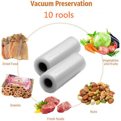 10 X Vacuum Food Sealer Seal Bags 3M Rolls Saver Storage Commercial 28cm