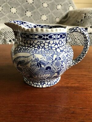 Antique Adams Porcelain Milk Jug Blue and White Chinese Pattern Circa 1886