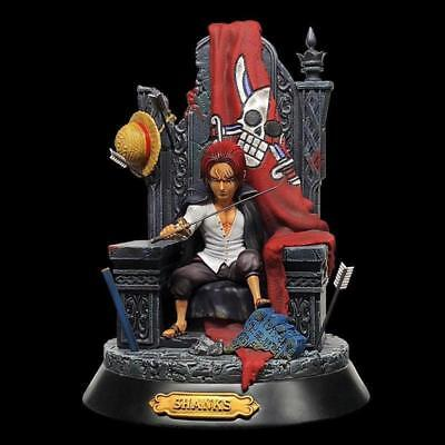 new Anime One Piece GK Shanks Red Hair Statue Model PVC Figure toy No Box 23cm