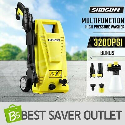 3200 PSI Pressure Washer 6.8L/M Electric High Pressure Cleaner Water Pump Gurney