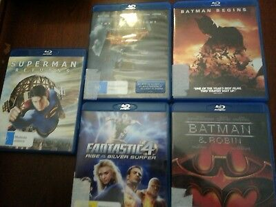 blu ray movies, action x 5ea