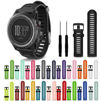 1 Fashion Soft Silicone Strap Replacement Watch Band+Tools For Garmin Fenix 3 HR