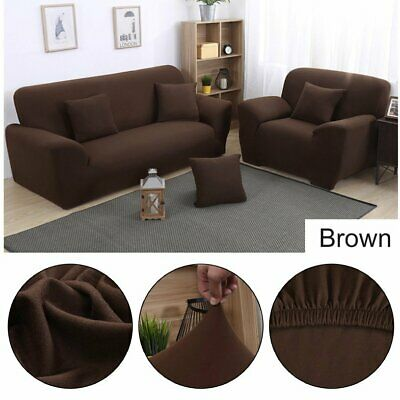 1/2/3/4 Sofa Couch Slipcover Stretch Covers Elastic Fabric Settee Protector SP