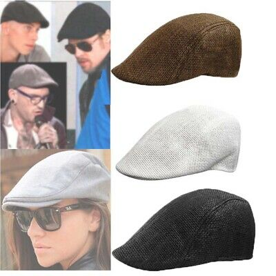 Mens Retro Baker Boy Peaked NewsBoy Country Outdoors Golf Hat Beret Flat Cap SP