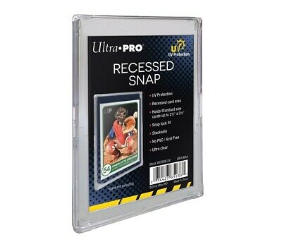 Ultra PRO Recessed Mini Snap Card Holder Protector 2-Piece UV Protection 85938