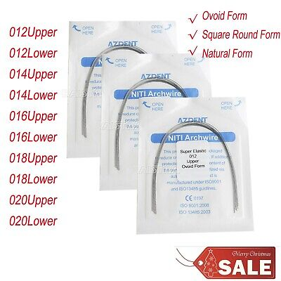 10pc Dental Orthodontic Super Elastic Niti Arch Wire Round Ovoid/Square/Natural
