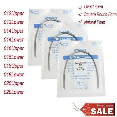Ovoid/Square/Natural Round Arch Wire Form Dental Orthodontic Super Elastic Niti