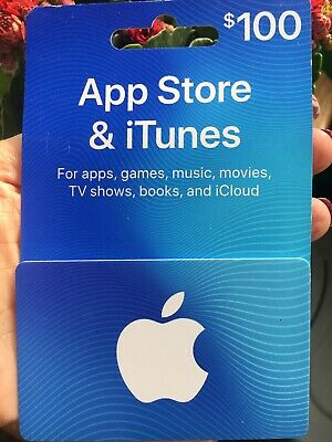 Apple 100 Usd Itunes Gift Card Brand New Unused Or Scratched 91 00 Picclick