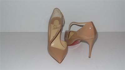 c29712ded5da  745 Christian Louboutin Jumping 85 Nude Patent Leather Pumps Heels Size 41