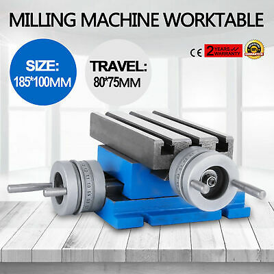 """New Milling Machine Worktable Cross Slide Table 4"""" X 7.3"""" Updated Hot Precision"""