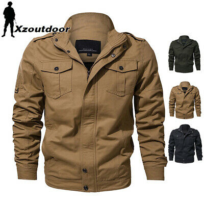 MA-1 Bomber Jacket Mens Military Pilot Jackets Coat Air Force Flight Army Casual