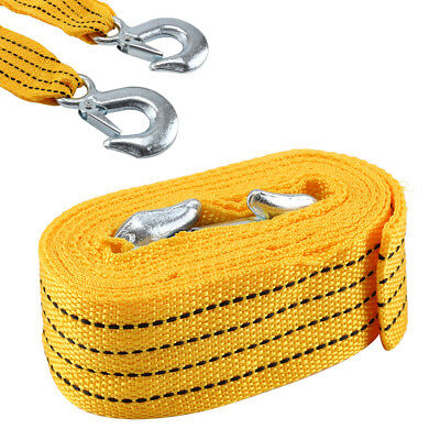 Perfect 4M Tow Towing Pull Rope Strap 3 Tons Heavy Duty Road Car Van Recovery