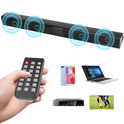 Sound Bar with Bluetooth 4.0 Soundbar Speaker for PC TV Home Theater