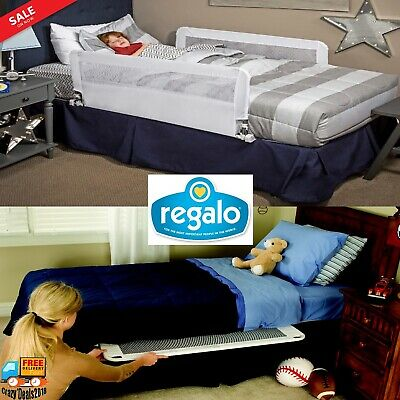 Regalo Double Sided Bed Rail Bedrail Protection Guard Toddler Child Safety