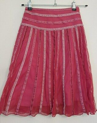 Ref 286 - MONSOON - Girls Childrens Lovely Pink Summer Skirt Age 8-10 Years