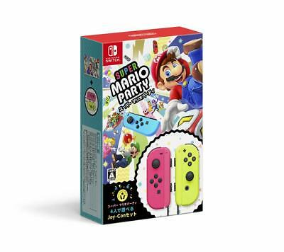 Nintendo Switch Super Mario Party Joy-Con Set for 4 Players w/Tracking# JAPAN FS