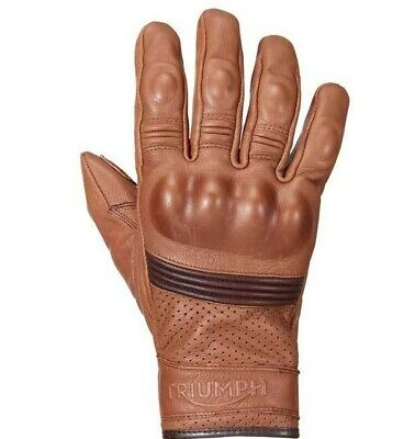 Brand New Triumph Motorcycles Mens Restore Tan Leather Gloves
