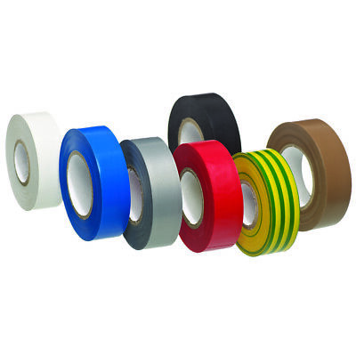 Brown Blue Black White Green Yellow ELECTRICAL PVC INSULATION TAPE ROLL 19mm 20m