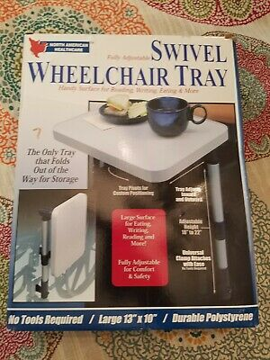 Swivel Wheelchair Tray Case New in Box Free Shipping