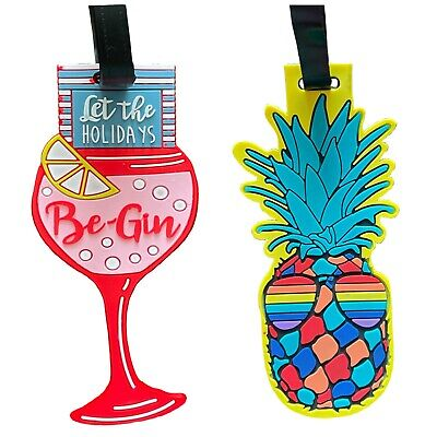 Strong Luggage Tag Suitcase Name Address Label ID Tag Novelty Holiday Travel Bag