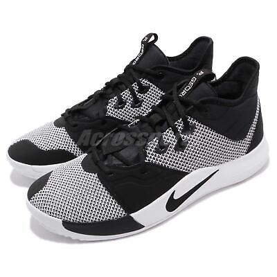 b52954df9607 Nike PG 3 EP Paul George Black White Mens Basketball Shoes Sneakers  AO2608-002