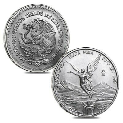 Lot of 2 - 2019 1/20 oz Mexican Silver Libertad Coin .999 Fine BU