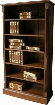 New Large Solid Mahogany Tall Bookcase H180 x W97 x D36 cm Antique Repro 5 Shelf